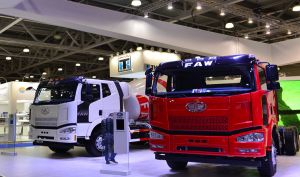 Four J6 Trucks and Two Engines Exhibited at Comtrans Moscow 2017